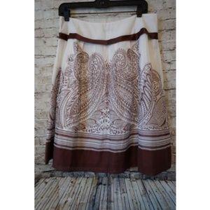 Pendleton A Line Silk Blend Skirt Petite